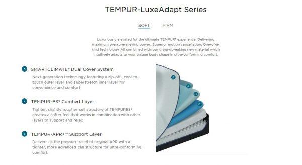 TEMPUR-LuxeAdapt Soft